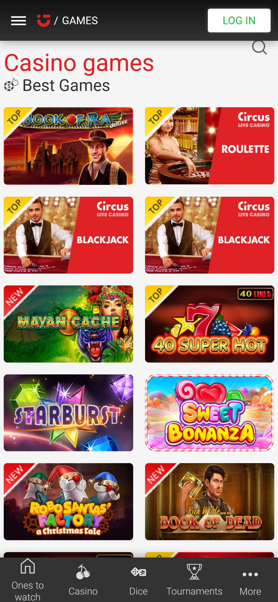 Circus free spins 125191